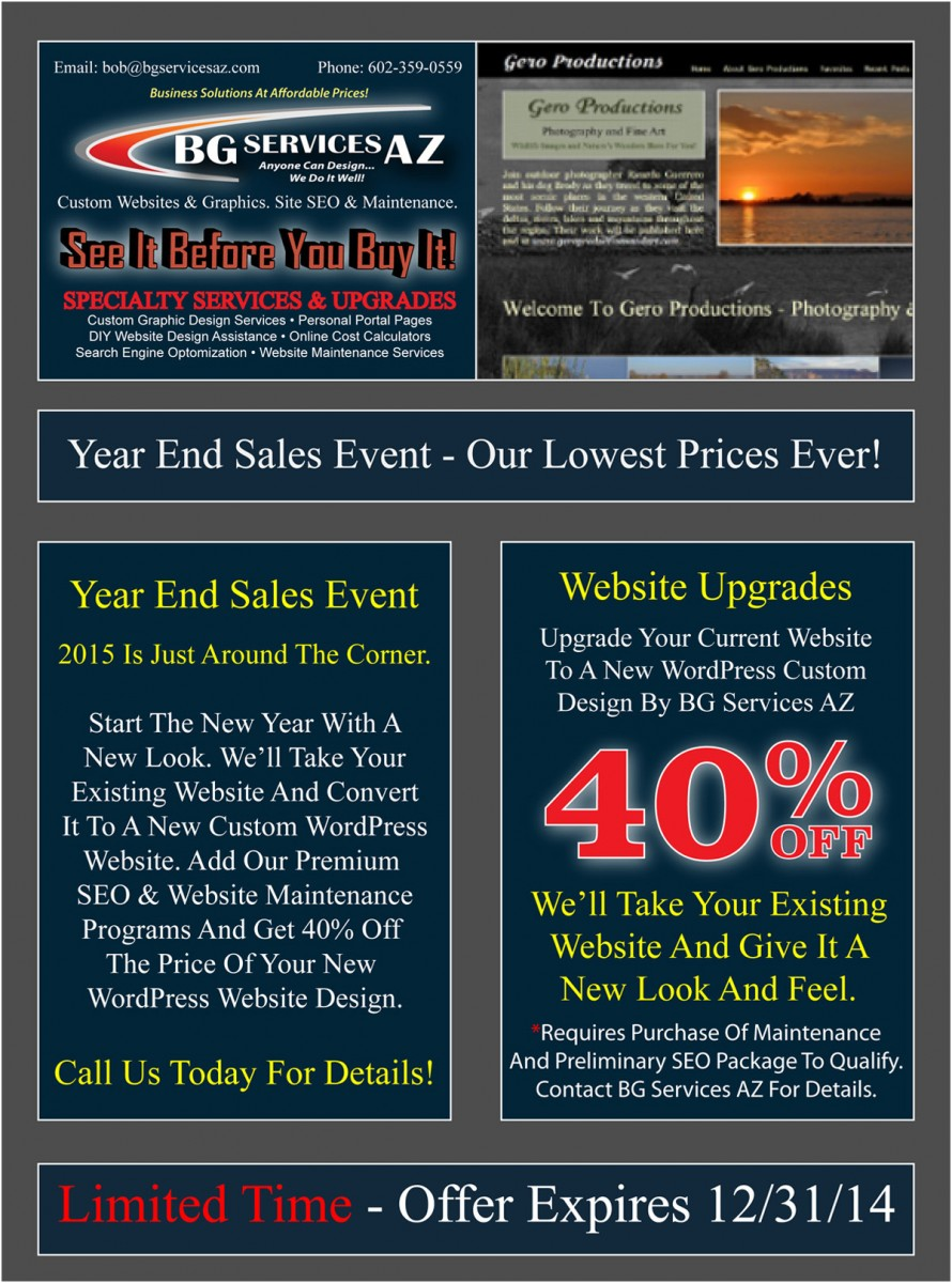 40% Off New Websites
