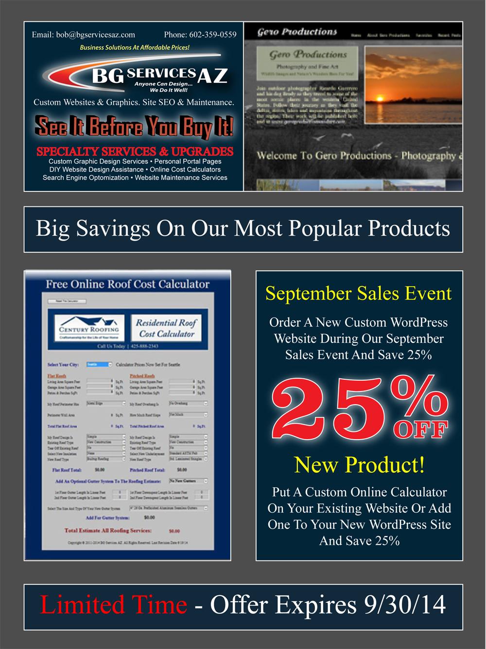 September Sales Event