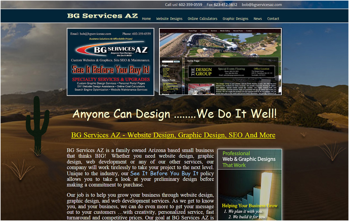 BG Services AZ Website