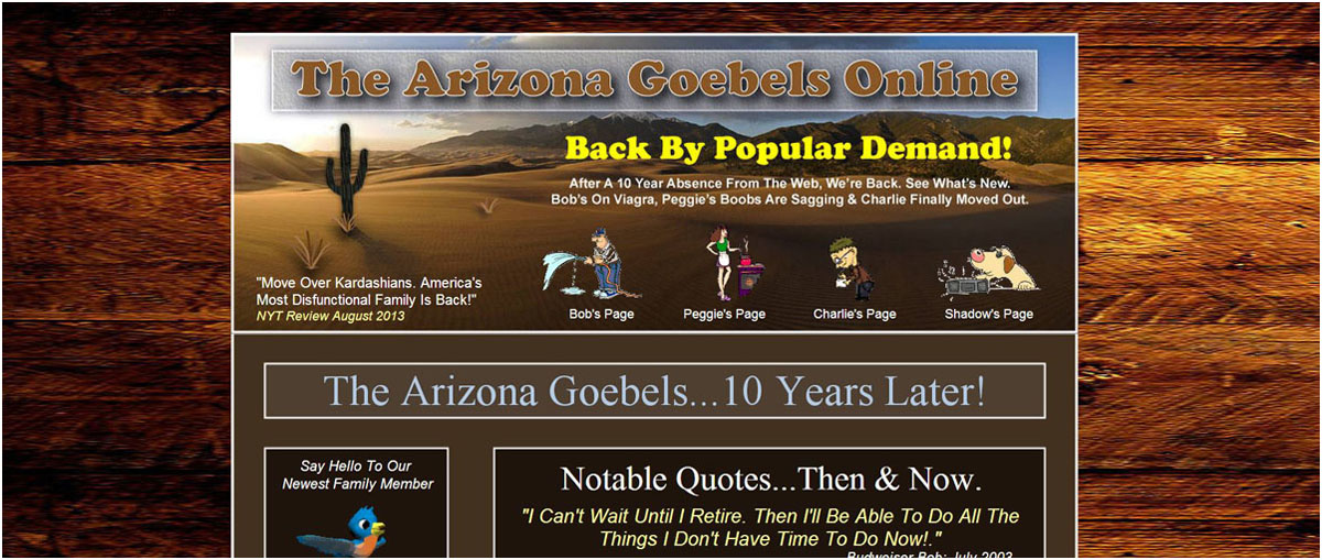 Arizona Goebels Family Website