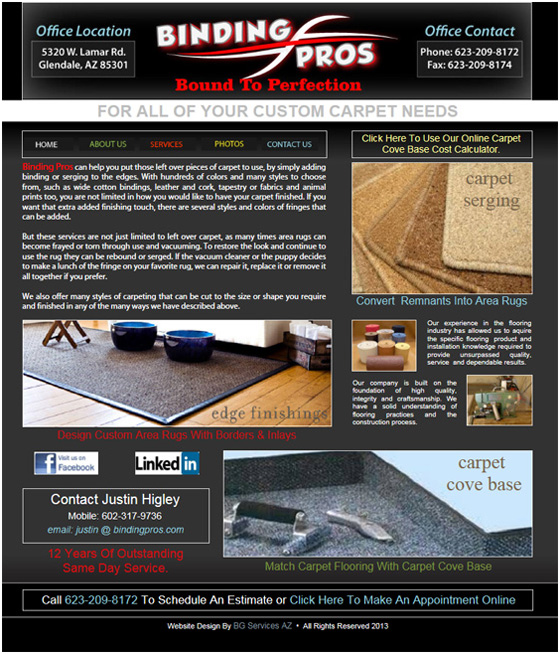 Binding Pros HTML Website