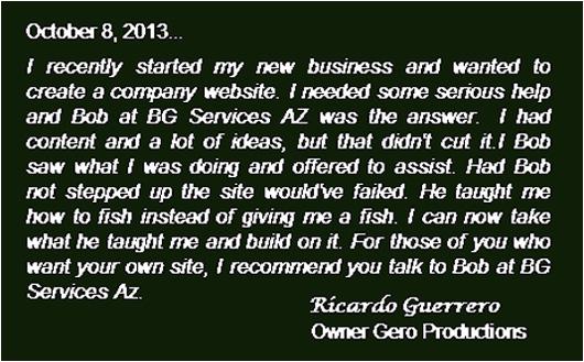 BG Services AZ Testimonials